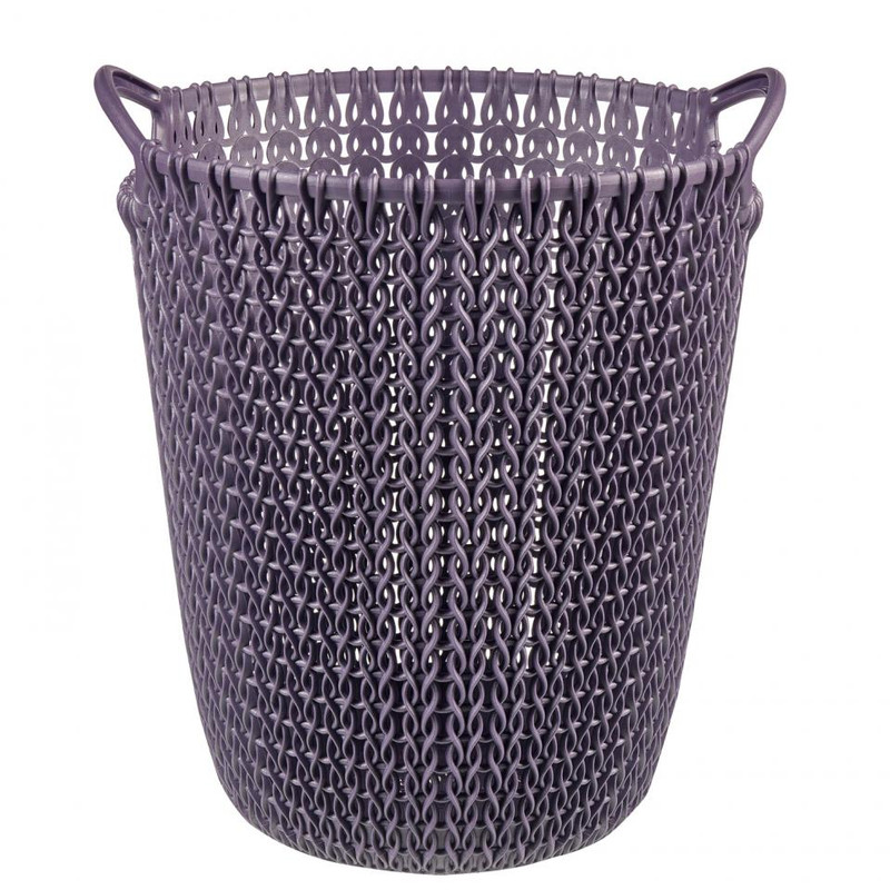 Curver knit papiermand - 7 liter - twilight purple