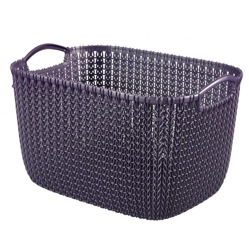 Curver knit mand L - 19 liter - twilight purple