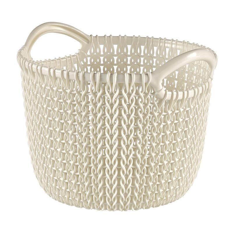 Curver knit mandje rond XS - 3 liter - oasis white