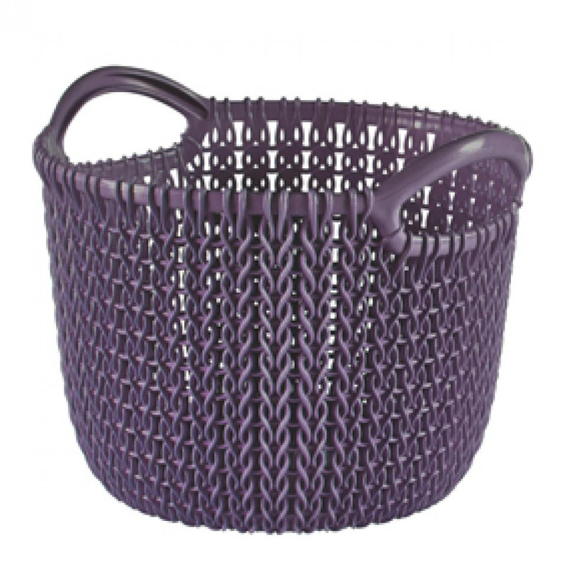Curver knit mandje rond XS - 3 liter - twilight purple