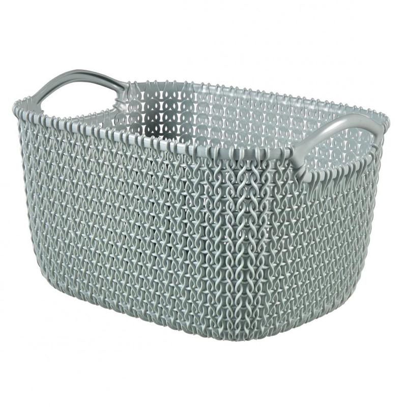 Curver knit mandje S 8 liter misty blue