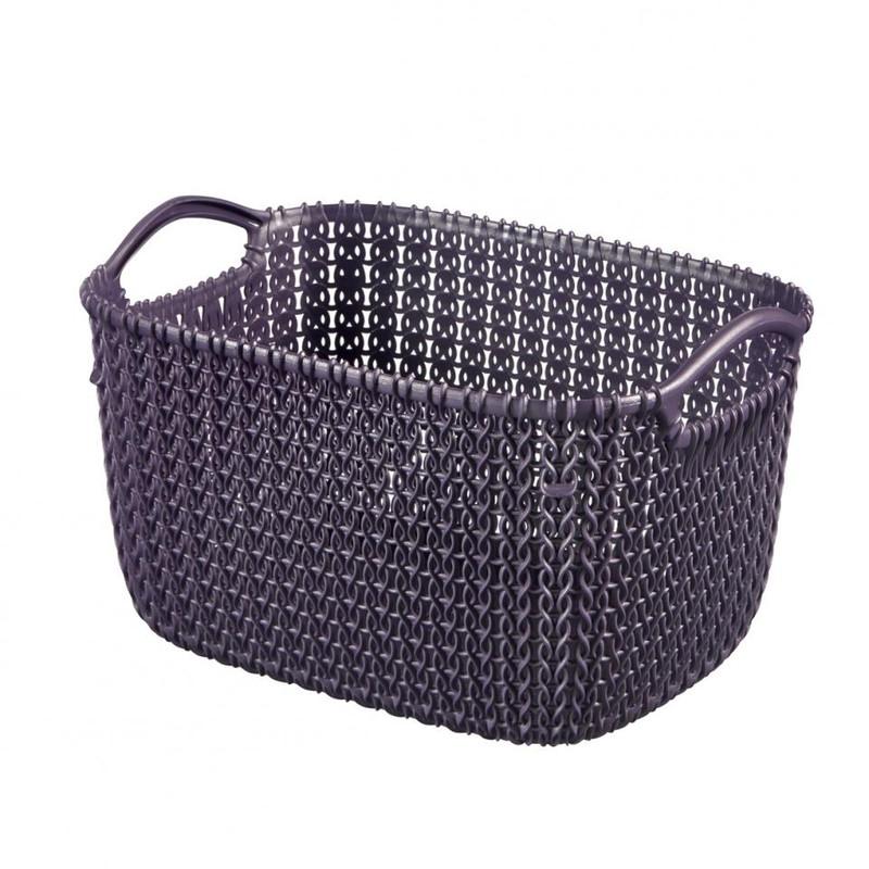 Curver knit mandje S - 8 liter - twilight purple