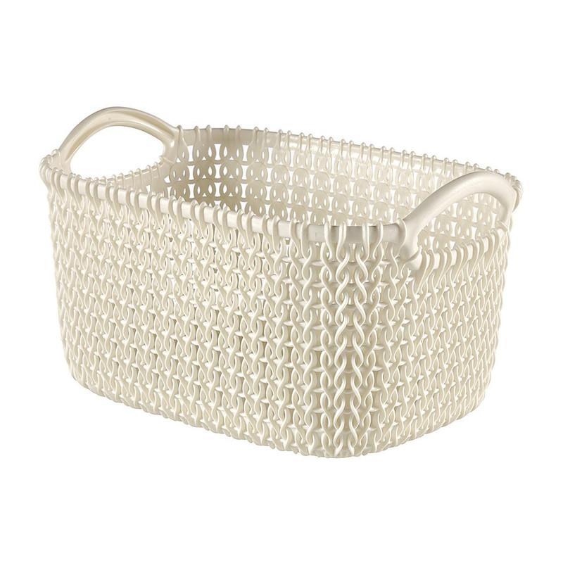 Curver knit mandje XS - 3 liter - oasis white
