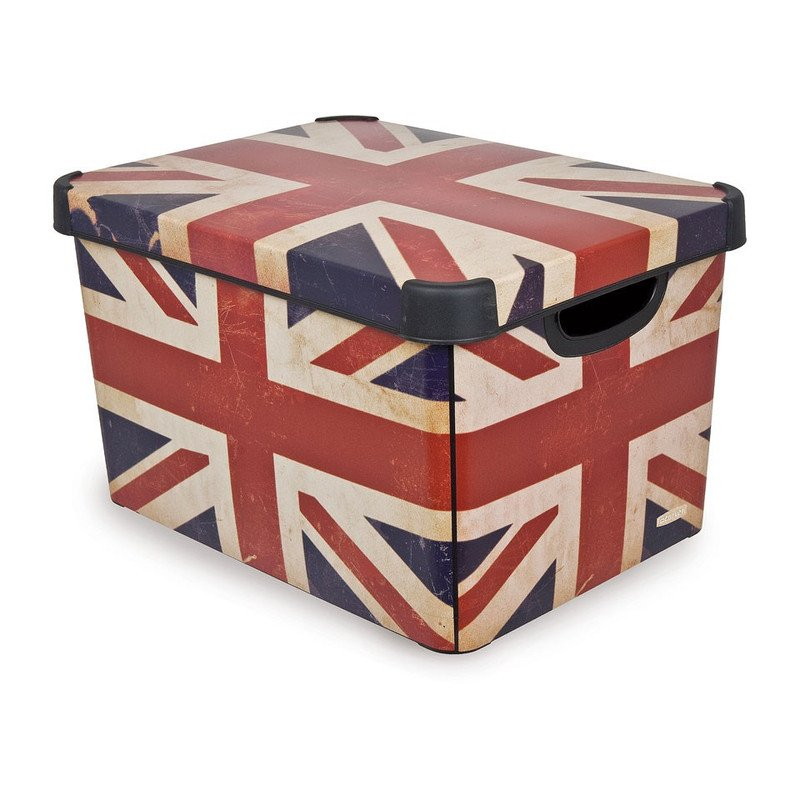 Curver Stockholm decobox L - 25 liter - Union Jack