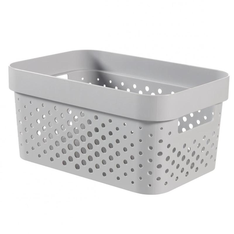 Curver Infinity Dots box - 4,5 liter - grijs