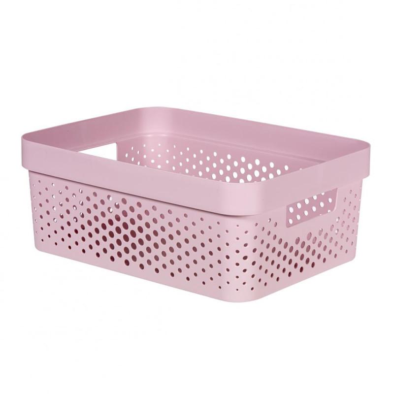 Curver Infinity Dots box - 11 liter - roze