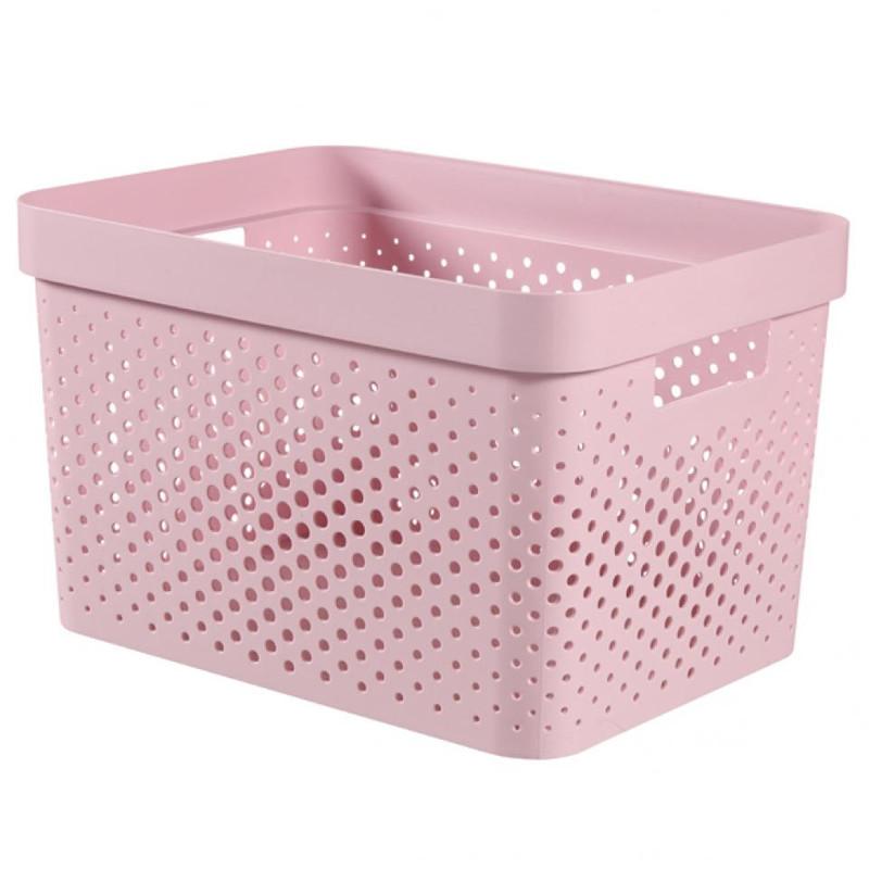 Curver Infinity Dots box - 17 liter - roze