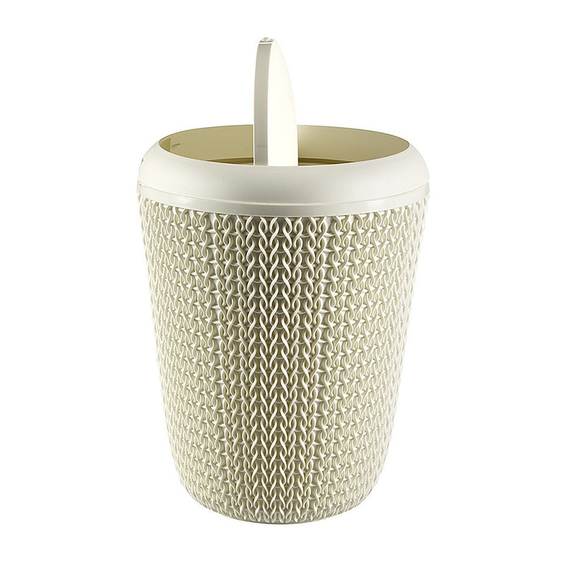 Curver knit afvalbak - 6 liter - oasis white