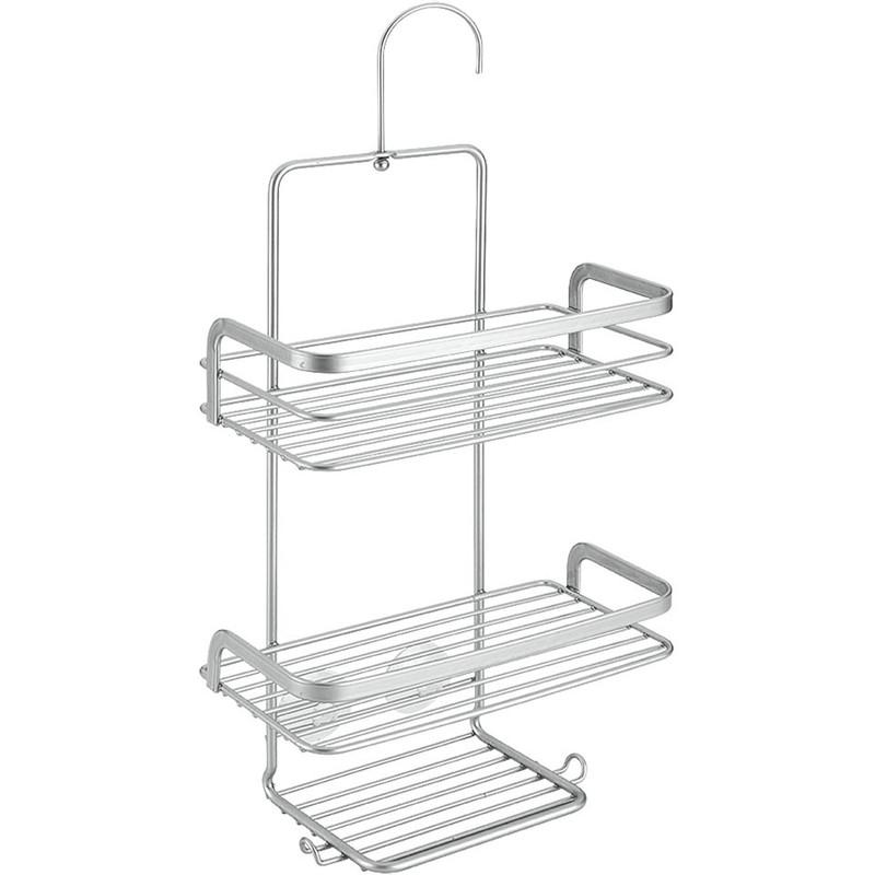 Metaltex viva doucherek - 3 etages - zilverkleurig