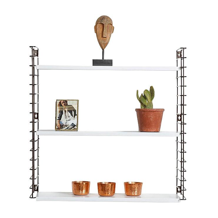 Tomado boekenrek retro - 3 etages - bronskleurig/wit