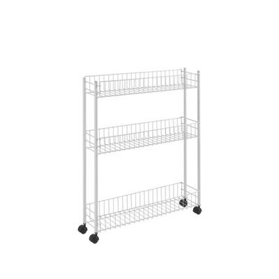 Metaltex - Fino 3 extra slim etagere op wieltjes - 3 manden