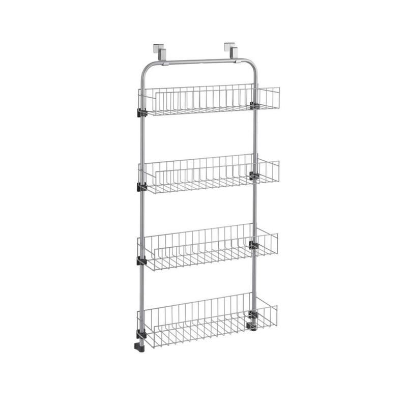 Metaltex - Baskets@door - etagere voor deur - zilver