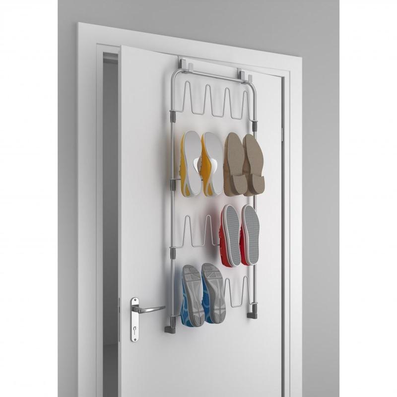 Metaltex - Shoes@door - schoenenetagere voor deur - zilver