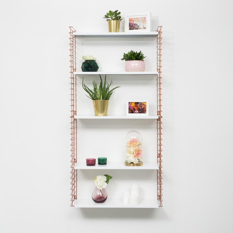 Tomado boekenrek 3 verdiepingen - koper/wit