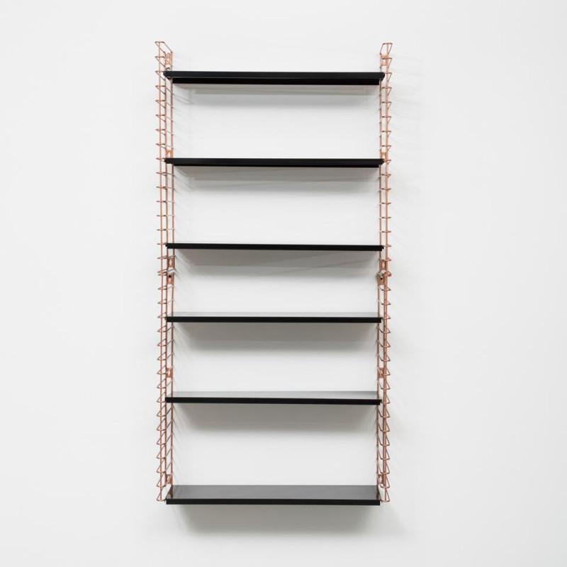 Tomado boekenrek 3 verdiepingen - koper/zwart