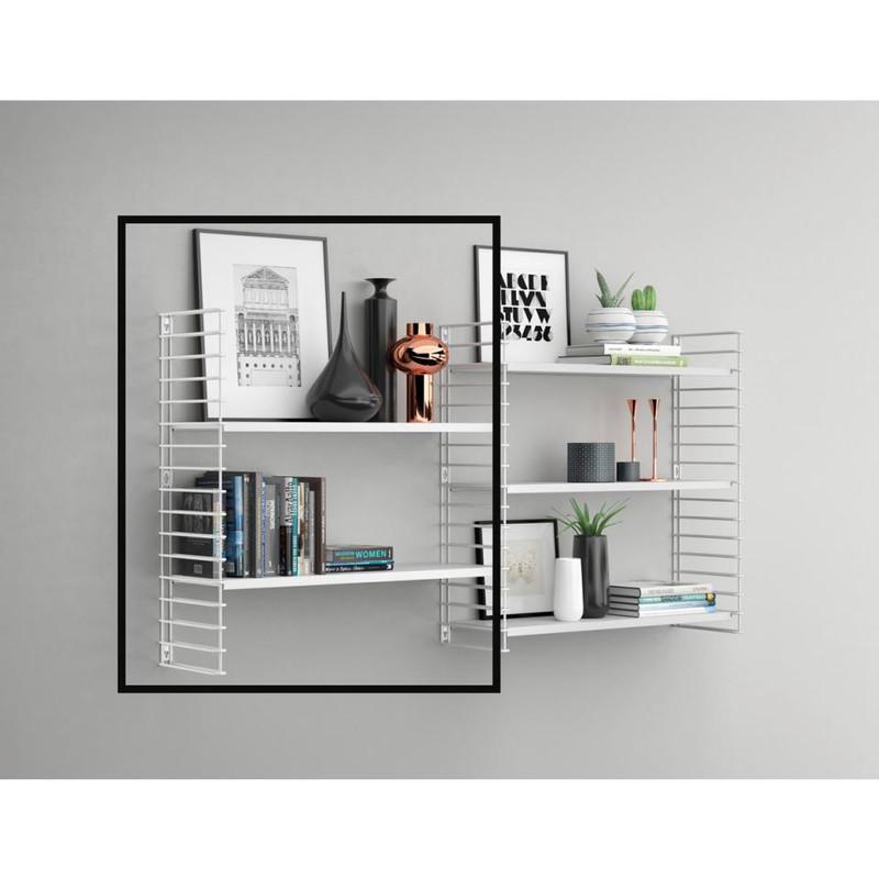 Tomado - Boekenrekuitbreiding - wit frame + planken