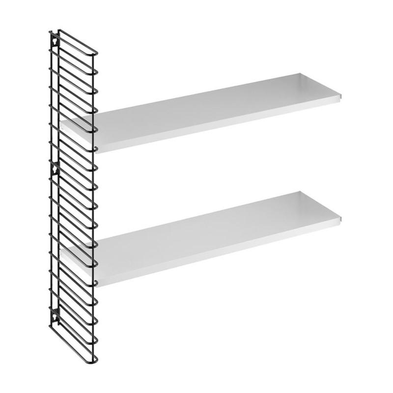 Tomado boekenrekuitbreiding zwart frame en witte planken