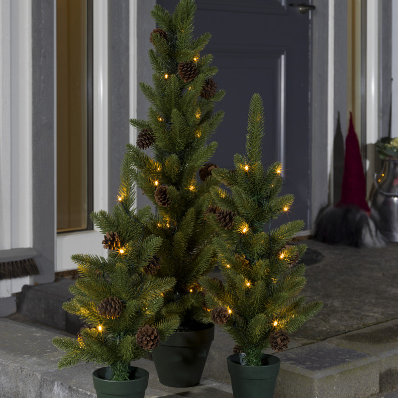 Kerstboom In Pot.Led Kerstboom In Pot 45 Cm