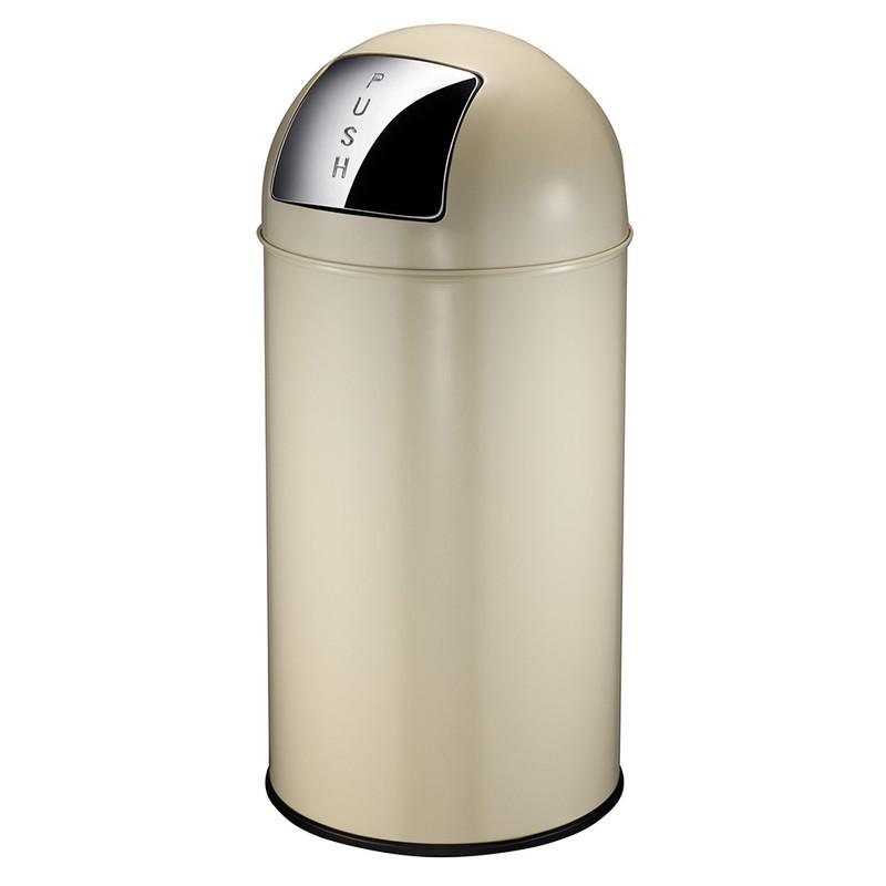 EKO pushcan afvalbak - 40 liter - crème