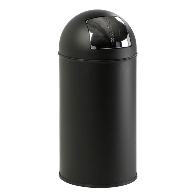 EKO pushcan afvalbak - 40 liter - mat zwart