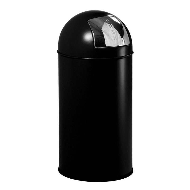 EKO pushcan afvalbak - 40 liter - zwart