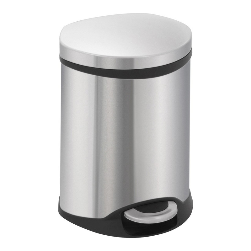EKO pedaalemmer schelp - 6 liter - RVS mat