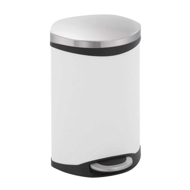 EKO pedaalemmer schelp - 10 liter - wit