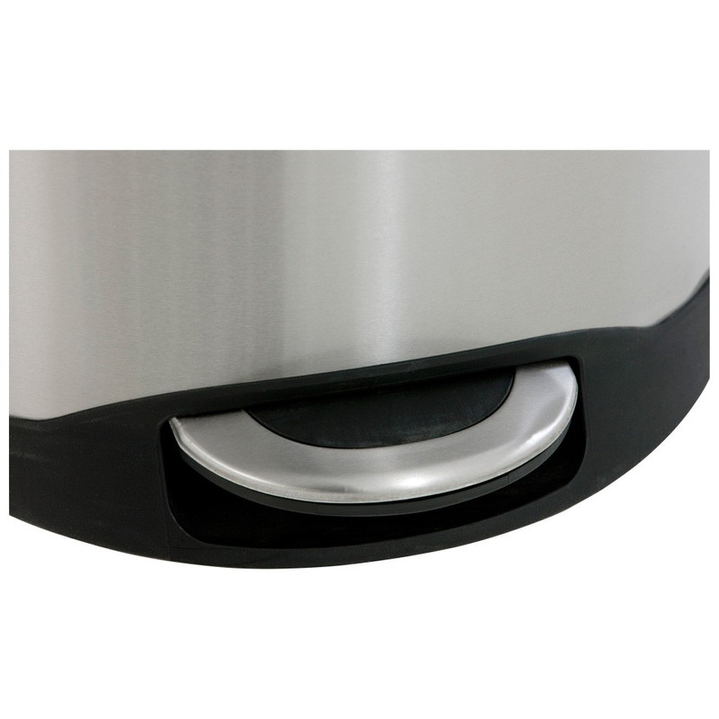 EKO pedaalemmer schelp - 30 liter - RVS mat