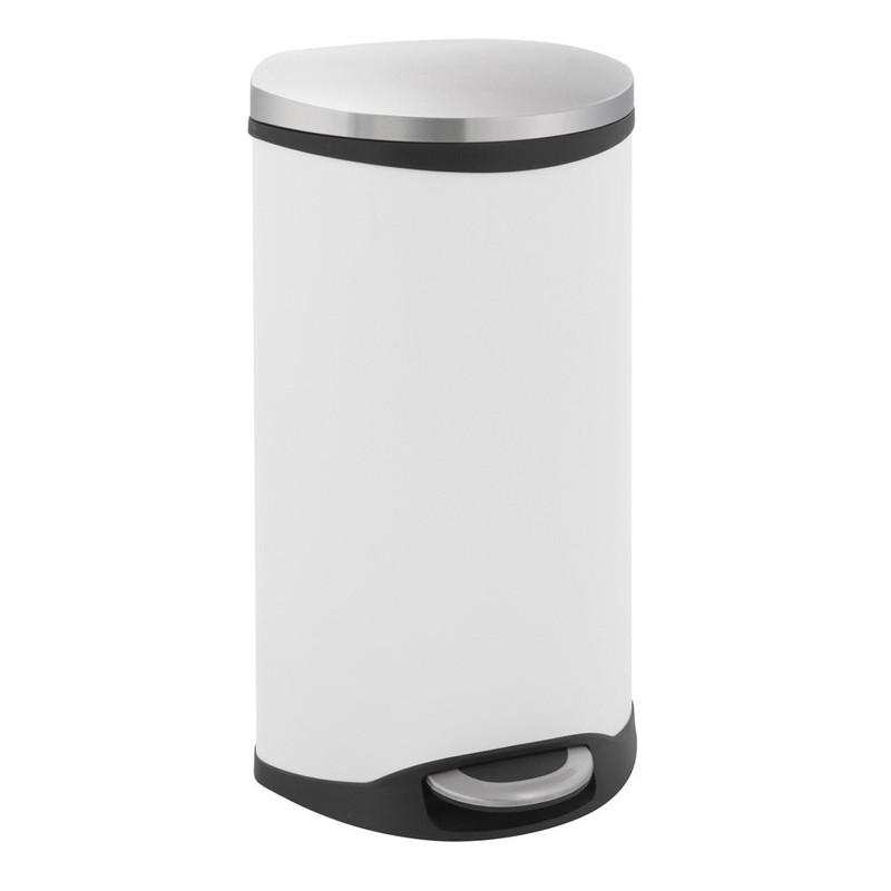 EKO pedaalemmer schelp - 30 liter - wit