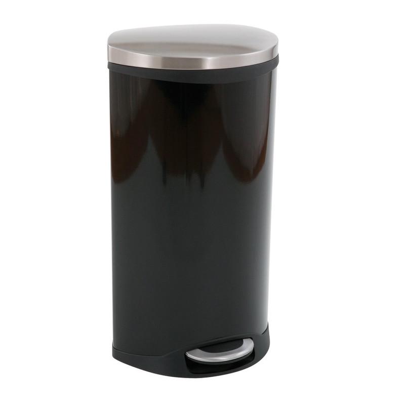 EKO pedaalemmer schelp - 30 liter - zwart