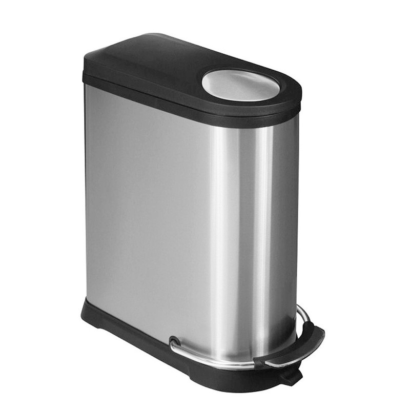 EKO pedaalemmer Viva - 40 liter - RVS mat