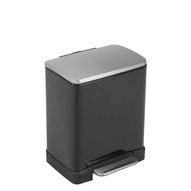 EKO pedaalemmer e-cube - 20 liter - zwart
