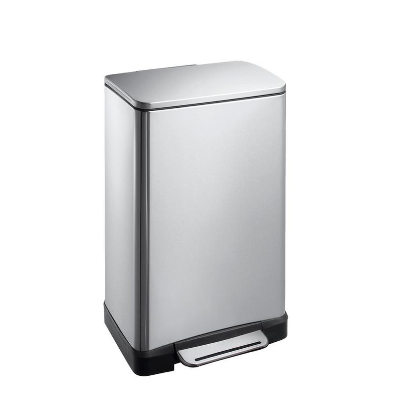 EKO pedaalemmer e-cube - 30 liter - RVS mat