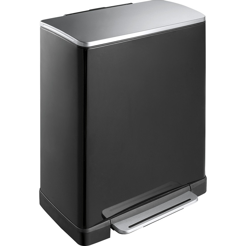 EKO recycle pedaalemmer e-cube - 28+18 liter - zwart