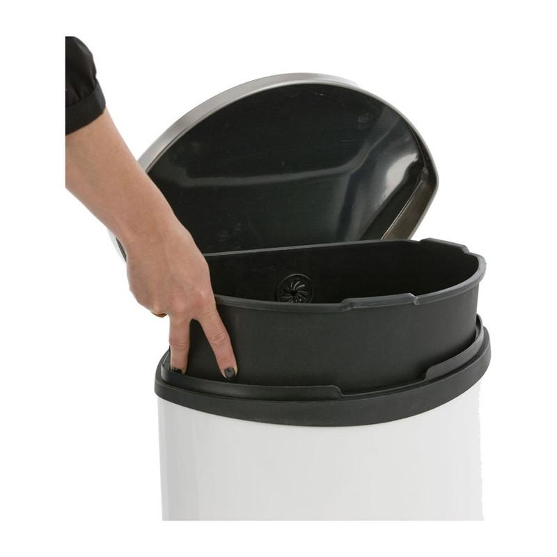 EKO pedaalemmer schelp - 50 liter - wit