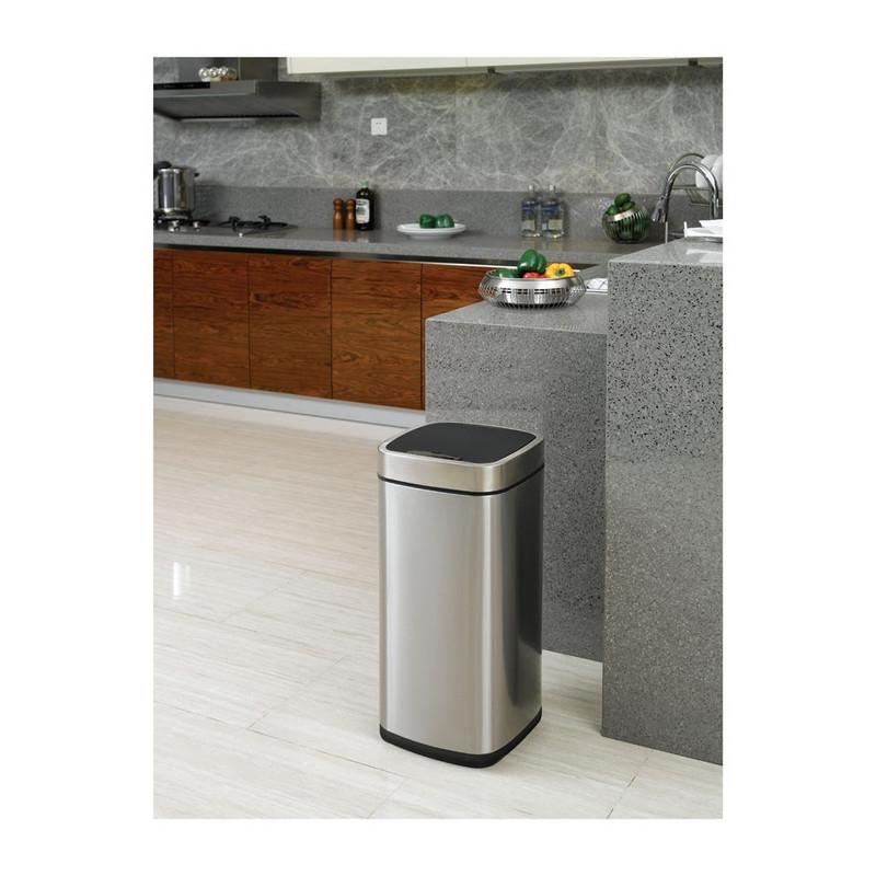 EKO sensor bin - 35 liter - RVS mat