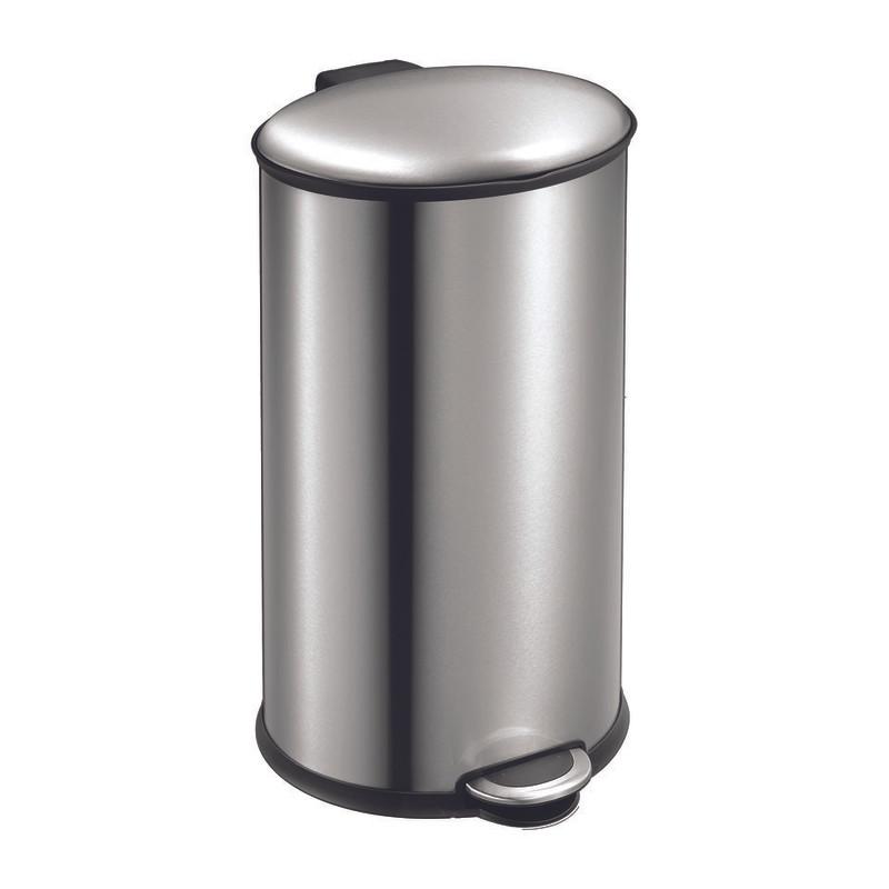 EKO pedaalemmer elipse - 40 liter - RVS mat