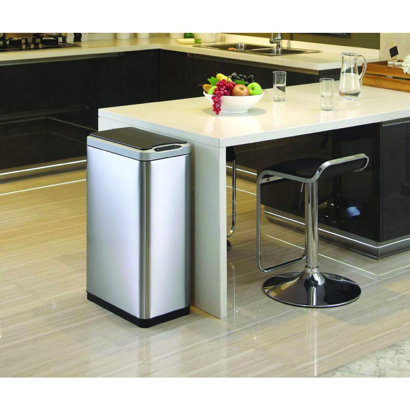 EKO recycle sensor bin phantom - 20+20 liter - RVS mat