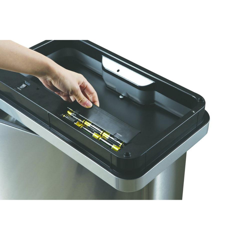 EKO recycle sensor bin mirage - 20+20 liter - RVS mat