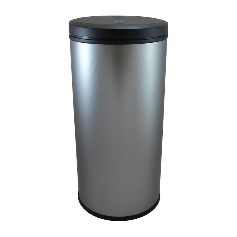 Curver decobin afvalbak - 30 liter - mat zilver
