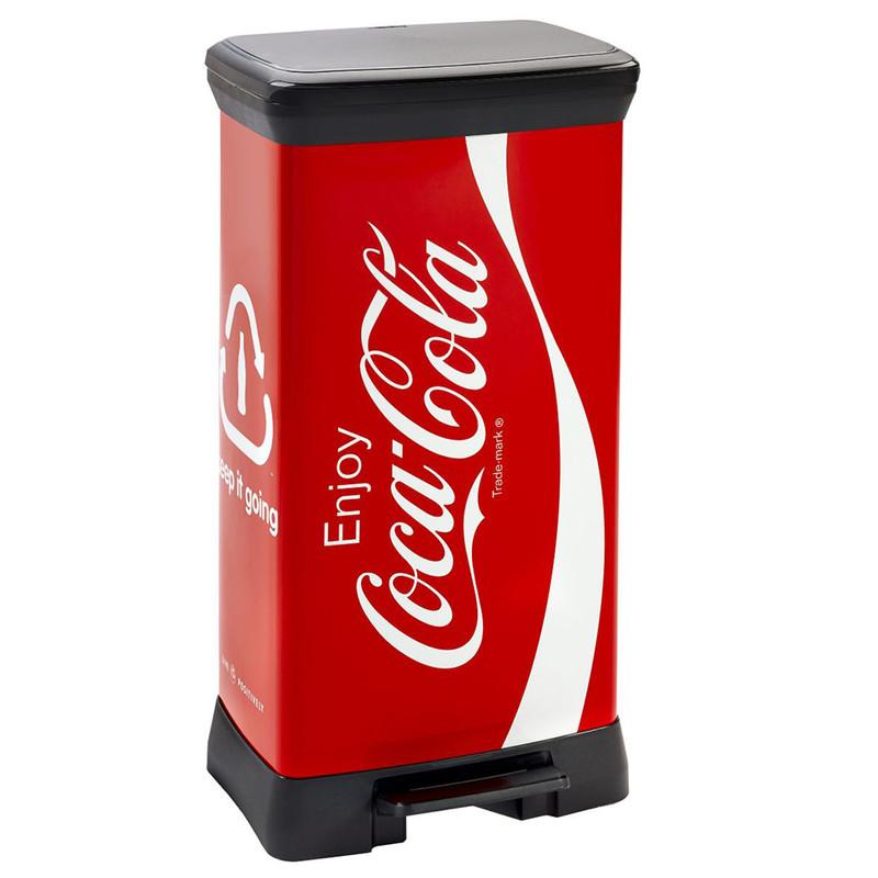 Curver decobin pedaalemmer - 50 liter - Coca Cola