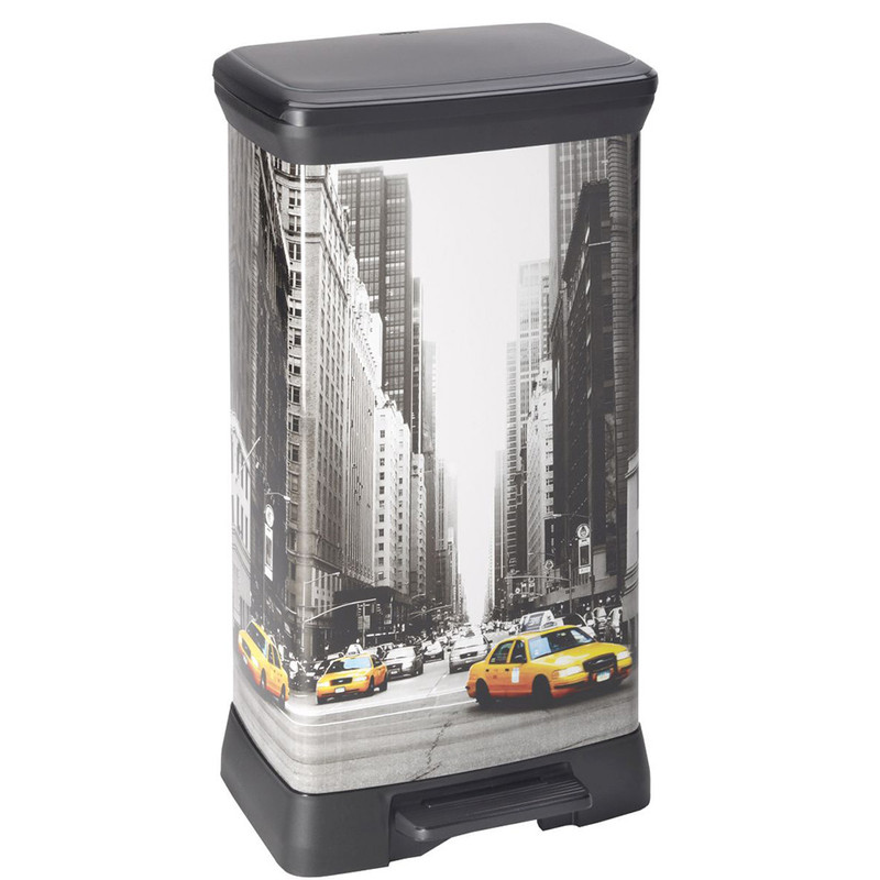 Curver decobin pedaalemmer - 50 liter - New York