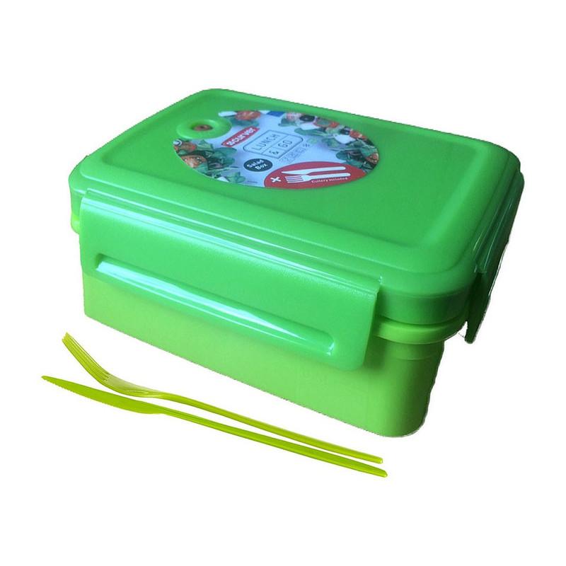 Curver lunch&go saladebox met bestek - 1.5 liter - groen
