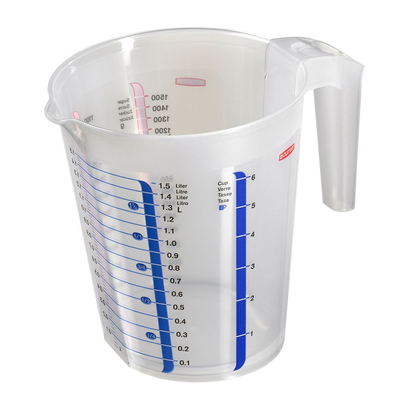 Curver chef@home maatbeker - 1.5 liter - transparant