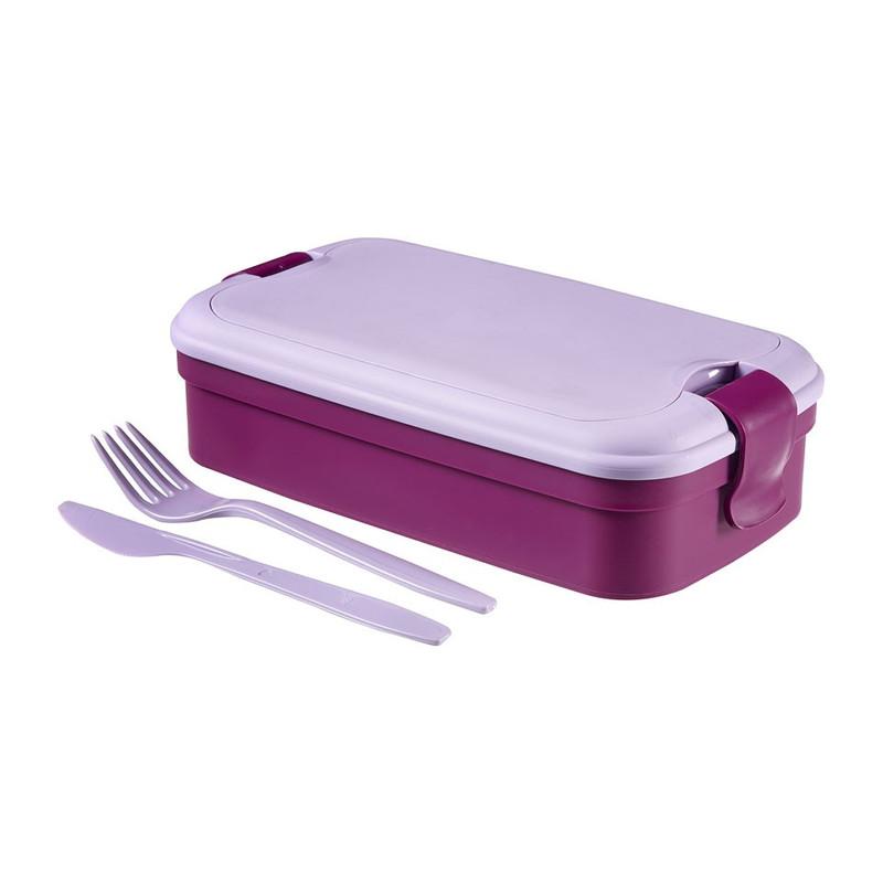 Curver lunch&go lunchdoos met bestek - paars