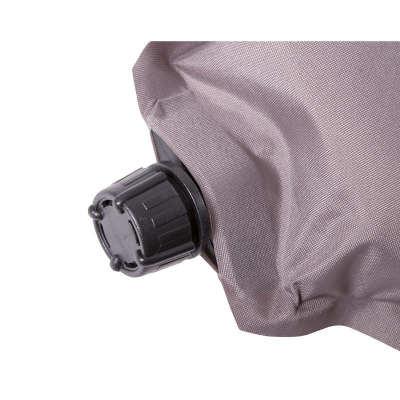 Camp Gear slaapmat zelfvullend - 198x63x7.5 cm - grijs