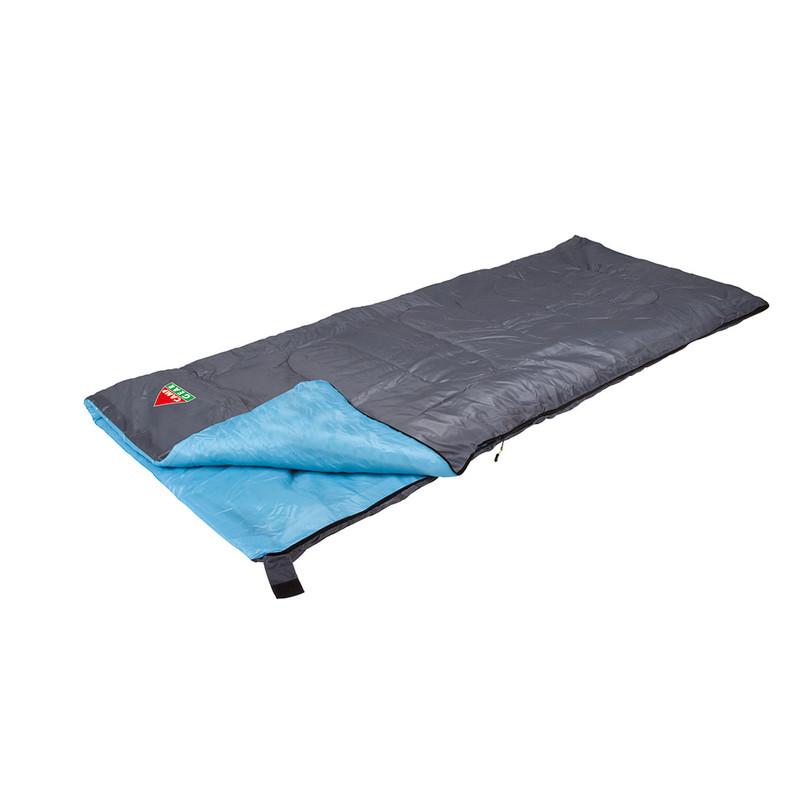 Camp Gear slaapzak compact - 190x75 cm - grijs/lichtblauw