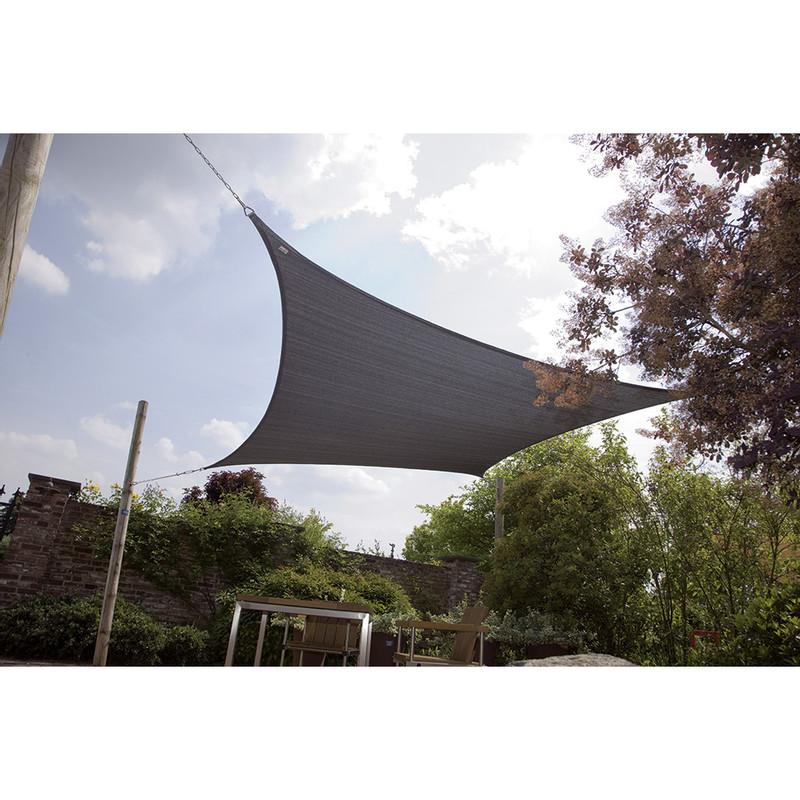 Bo-Garden schaduwdoek ruit - 3.6 meter - antraciet