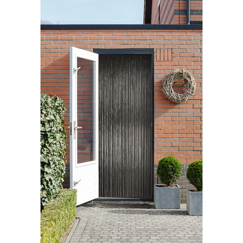 2LIF deurgordijn Malta - zwart - 93x230 cm