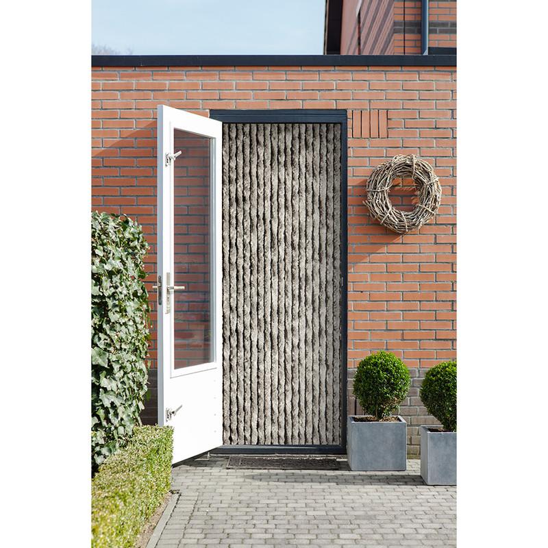 2LIF deurgordijn kattenstaart - grijs - 93x210 cm